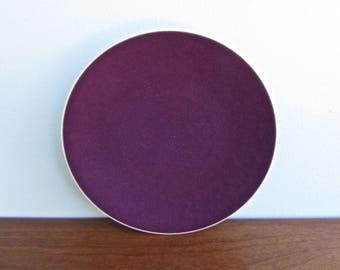 "Massimo Vignelli Designed Sasaki Colorstone 10.75"" Dinner Plates in Plum, Unused, 5 Available"
