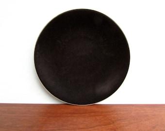"""Massimo Vignelli Designed Sasaki Colorstone 7.25"""" Bread Plates in Matte-Black, 4 Available"""