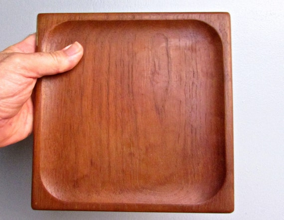 Single Rakel Wayersvang Teak Wood Plate Rw Norway Mid Century Modern Scandinavian Craft