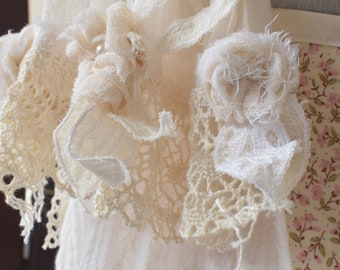Ready to ship cream decorative dress scarf