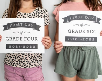First Day of School Signs 2021-2022 / Contemporary First Day of School Signs