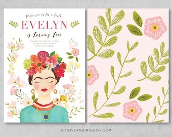 Frida Kahlo Party Invitation / Printable Birthday Party Invitation