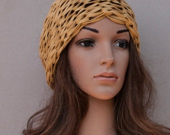 0fcf48de Mustard yellow chic and chunky knitted headwrap - New summer products  casual range in my shop