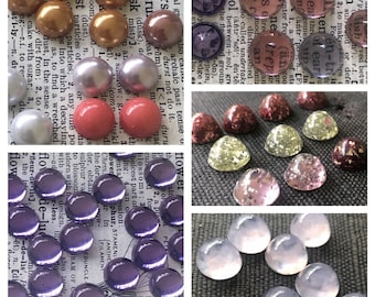 11 Color Mum Cabs Jewelry Supplies by Zardenia Ships from US 15mm Matte Finish Winter 2015 Mix 22PCS