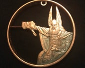 Thor, Norse God of Thunder, Hand Cut Copper Medallion, Warrior God Medallion, Hand Cut, Copper Pendant, Norse Mythology Necklace