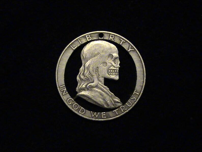 Poor Richard! Cut Coin Pendant - Hobo Style - Dead Ben Franklin - BRAND  NEW!!!