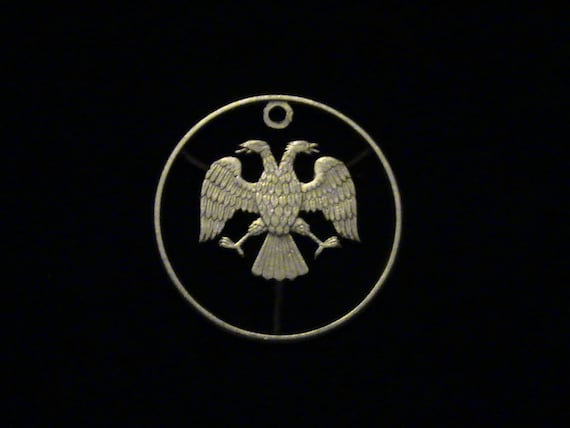russie 1997 coup pendentif pi ce double aigle etsy. Black Bedroom Furniture Sets. Home Design Ideas