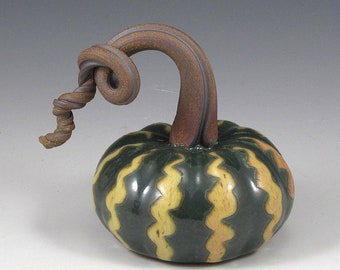 Small Yellow and Green Gourd Pumpkin