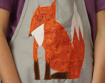 Apron/Smock with Fox