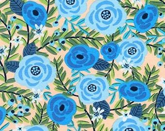 BY YARD-London Calling Floral Lawn Fabric Robert Kaufman Fabric 17693-205 Multi