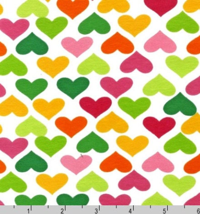 81233e14313 One 1 Yard Laguna Cotton Jersey Knit Multi Colored Hearts | Etsy