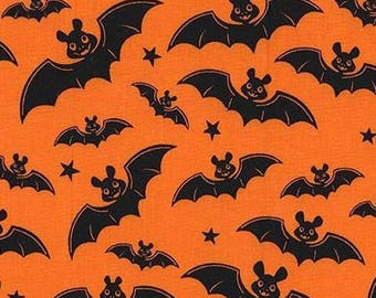 Five (5) Yards -A Little Batty Bat Halloween Michael Miller Fabrics CX6950-ORAN-D Orange