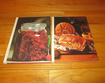 Lot of 2 Vintage Southern Living Cookbooks HC 1977 Breads & Canning Preserving