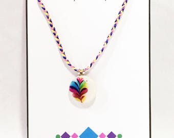 Rainbow Heart Pendant Necklace - Free Shipping in the US