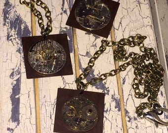 Vintage Watch Movement Pendant Necklace Steampunk Victorian Inspired Choice