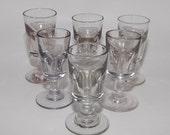 Antique Deceptive Toasting Drinking Glasses, Set of 6