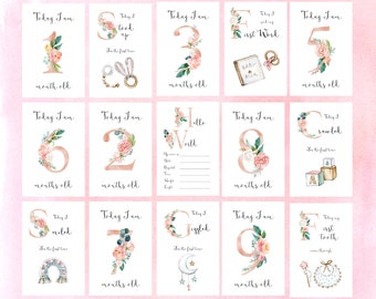 MILESTONE Cards Baby Girl Printable
