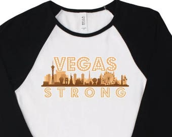 Vegas Strong Skyline Women's Raglan t-shirt