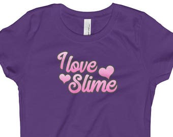 I Love Slime, Girl's T-Shirt