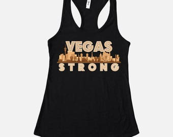 Vegas Strong Skyline Women's Racerback Tank