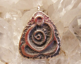 Eternity Goddess, eternity spiral, goddess jewelry, mother pendant, buddha jewelry, zen jewelry, bronze pendant