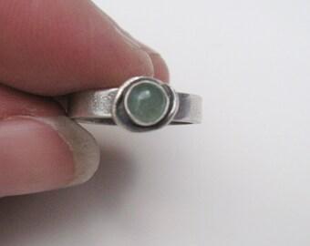 Green Aventurine Toe Ring, gemstone toe rings, stone of adventure, heart chakra jewelry, wedding, bridal party accessories, symbolic jewelry
