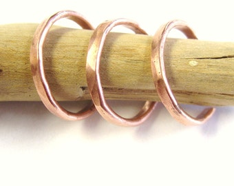 Hammered Copper toerings, adjustable toe ring, toe ring, set of three, copper toe rings, summer jewelry, bridal gifts