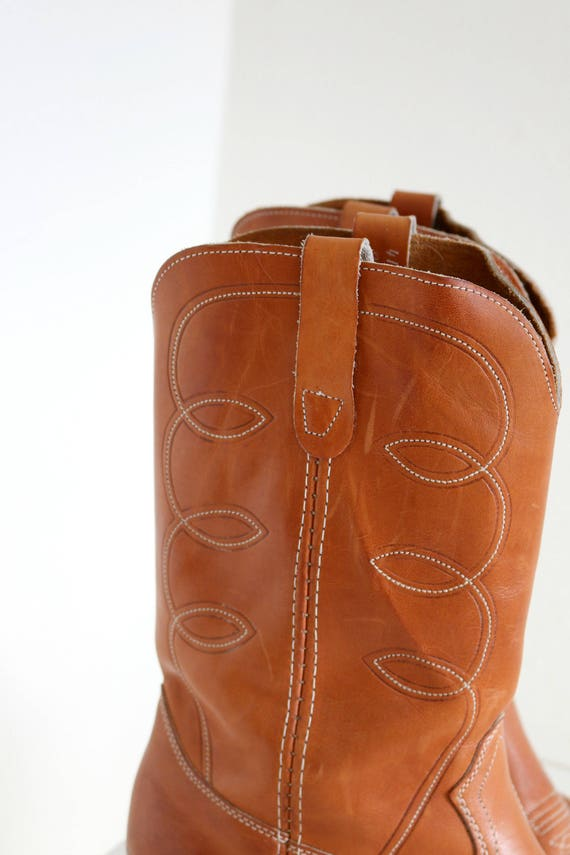 Boots Size Women's 1980s Men's Cowboy Landis Cognac 13 12 Size CWnnRqAt