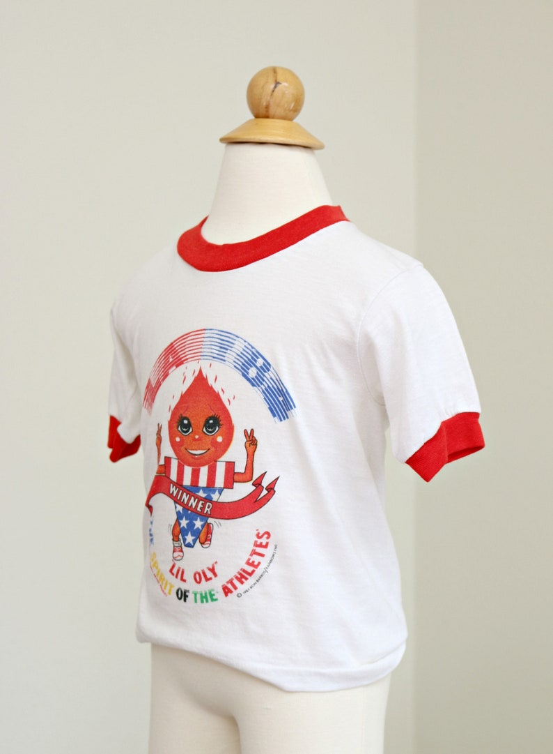 456 1980s Lil/' Oly Race T-Shirt  Kid/'s Size Extra Small