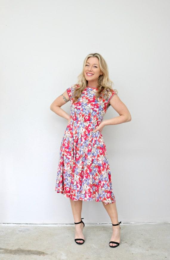1990's Spring Selbone Florals Dress // Women's Si… - image 10