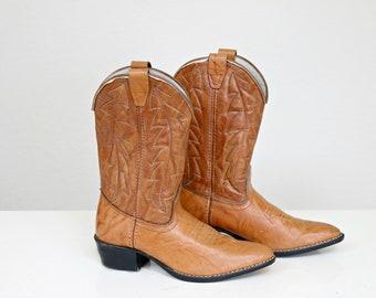 1980s Durango Cowboy Boots // Youth Size 2-1/2 // Unisex Style