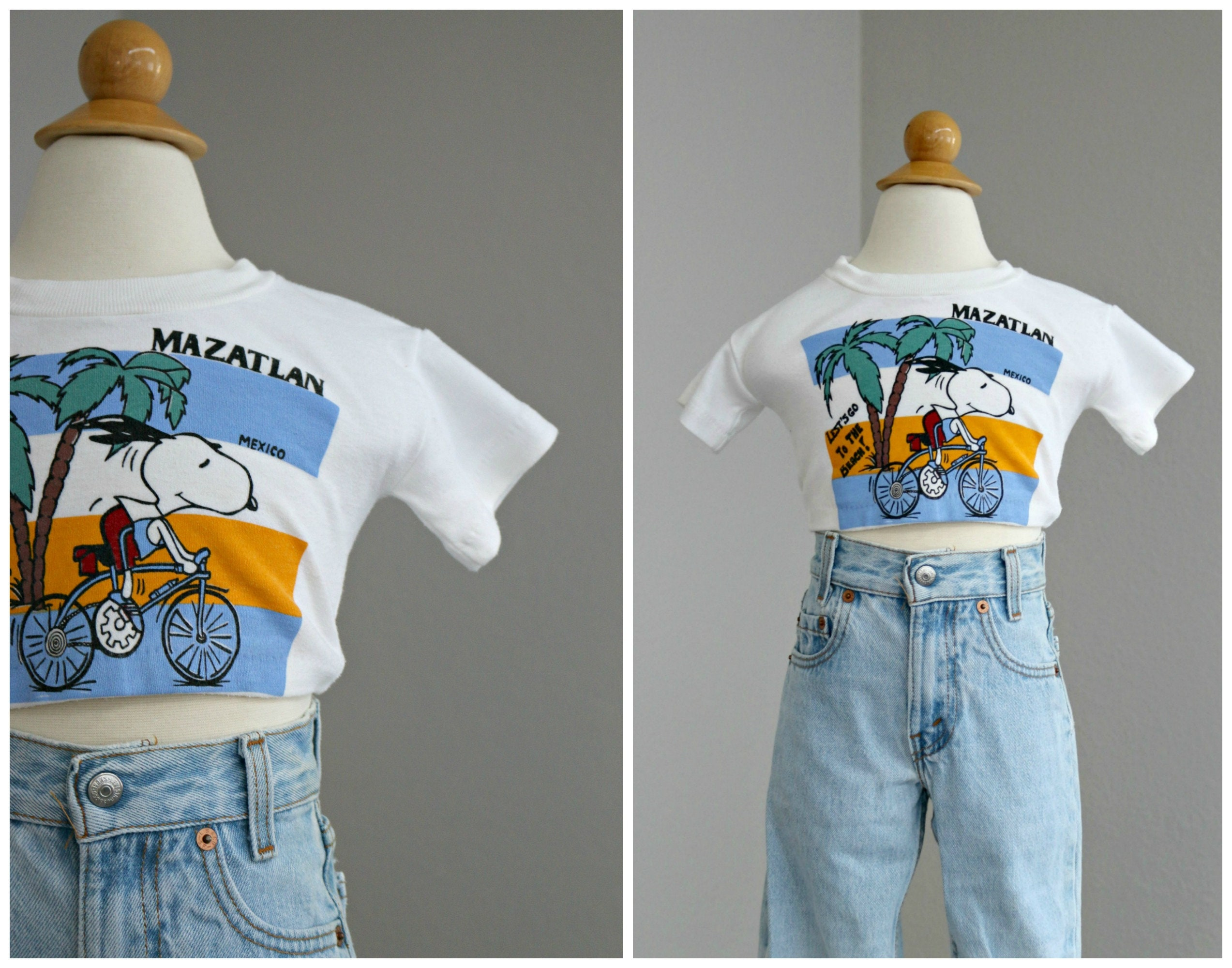 80s Tops, Shirts, T-shirts, Blouse   90s T-shirts 1980s Mazatlan Snoopy Souvenir Crop Top  Kids Size 24 Months To 2T Soft Tee T-Shirt Boy Or Girl $17.00 AT vintagedancer.com