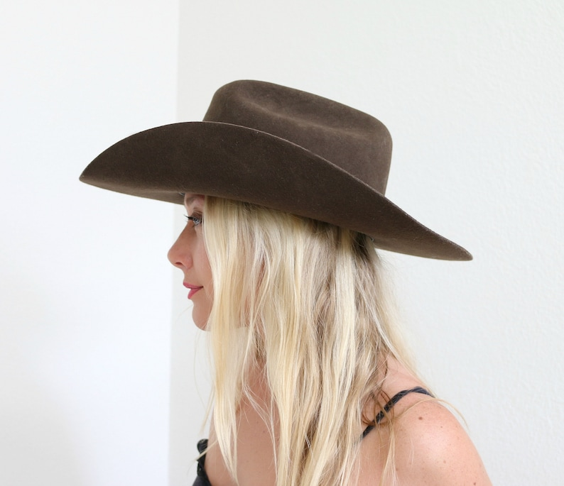 1990s MHT Western Hat    Size 7-3 8    3x Beaver Blend  78dacdc37ef3