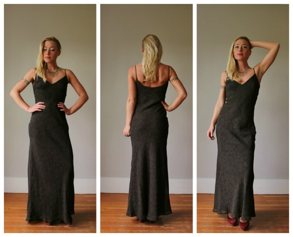 1990s Rampage Leaf Dress >>> Extra Small to Small