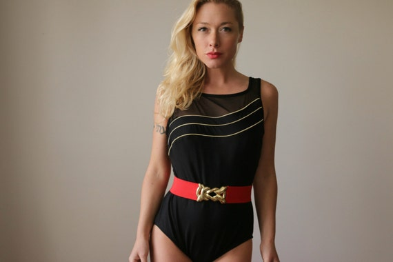 1980s Robby Len Swimsuit >> Size Large