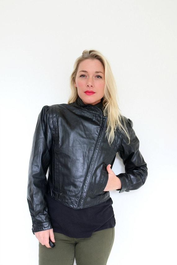 Size Small Extra 1980s Leather Futuristic Jacket to Small pnBCxgWx