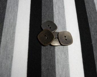 Square metal button. 1 button.