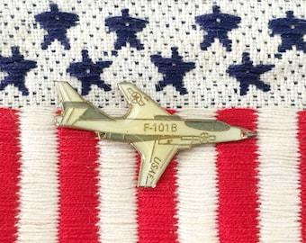 Nasa Program X-15 Rocket Ship Powered Airplane Brooch Jewelry Nasa Aircraft Vintage Gold Tone Astronauts & Space Travel