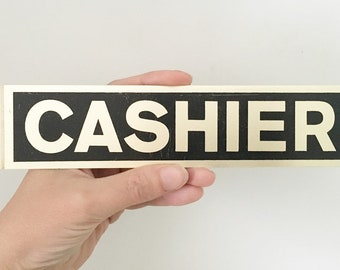 Cashier Vintage Retro Reproduction Gift 8x12 Metal Sign 108120067056