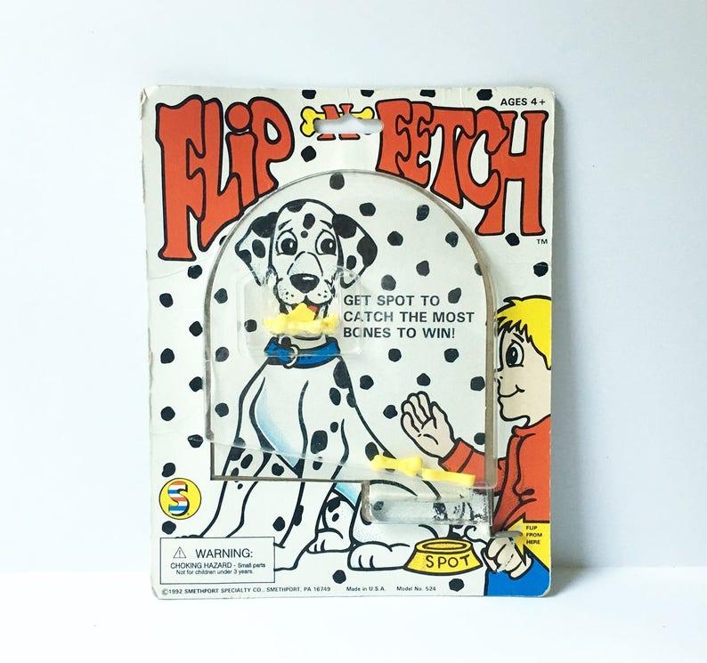 Flip game dog game Flip and Fetch Dalmatian game fun game vintage game 1990s