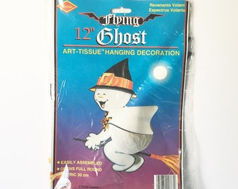 Ghost Hang Up Halloween cute ghost Party Decor Halloween Party Honeycomb Ghost New Old stock Hanging Witch Decoration