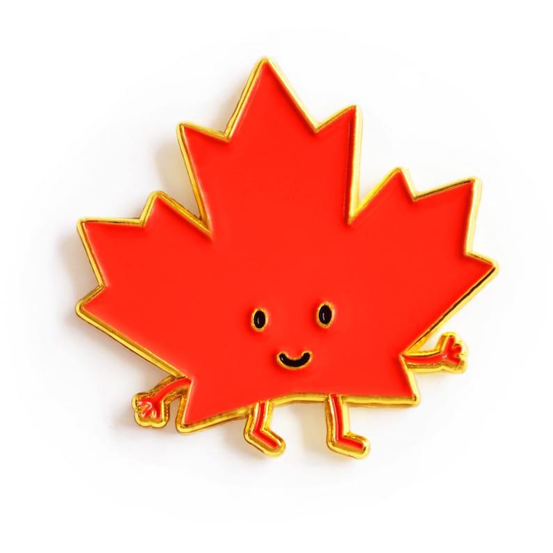 2e85fd11f29 Maple Leaf Enamel Pin red toronto ontario canada cute | Etsy