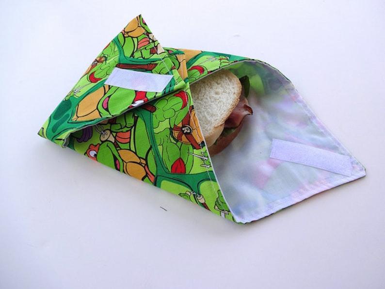 Reusable Sandwich Wrap Teenage Mutant Ninja Turtles image 0