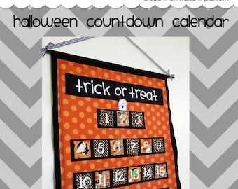 Halloween Countdown Calendar - PDF Pattern