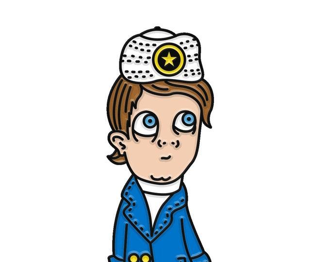 Captain Scooterberry Enamel Pin