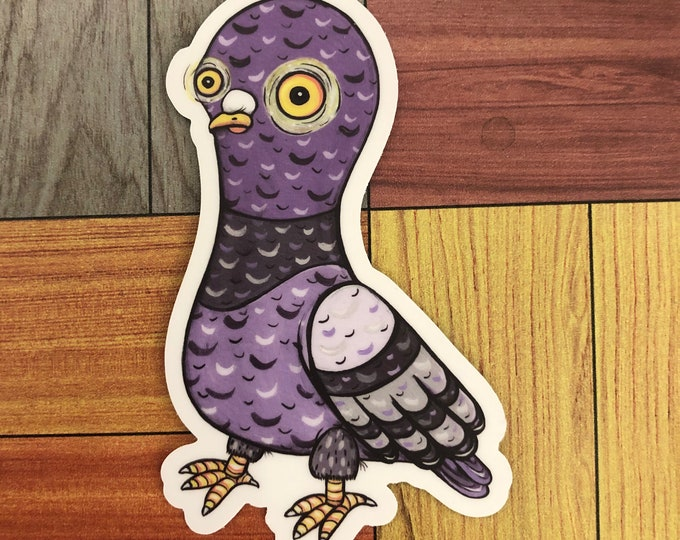 Enchanted Pigeon Vinyl Sticker
