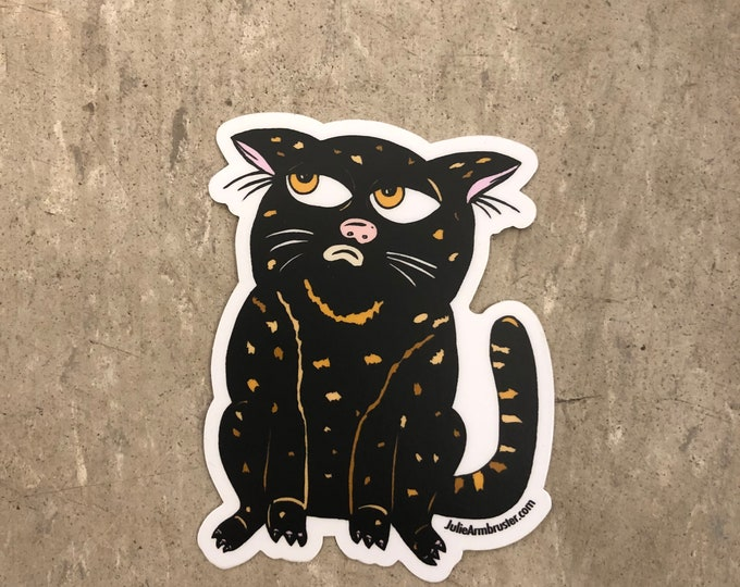 Chin-Chinny Cat Vinyl Sticker