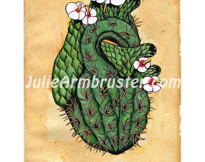 The Cactus Where Your Heart Should Be 8x10 Digital Print