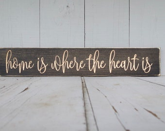 home is where the heart is etsy