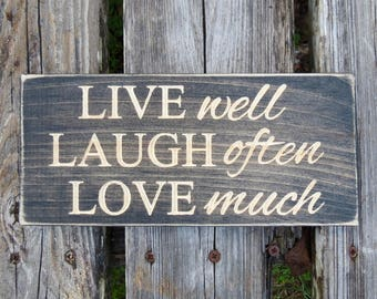 Live Laugh Love Sign Etsy
